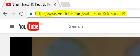 How to copy the videos URL from YouTube